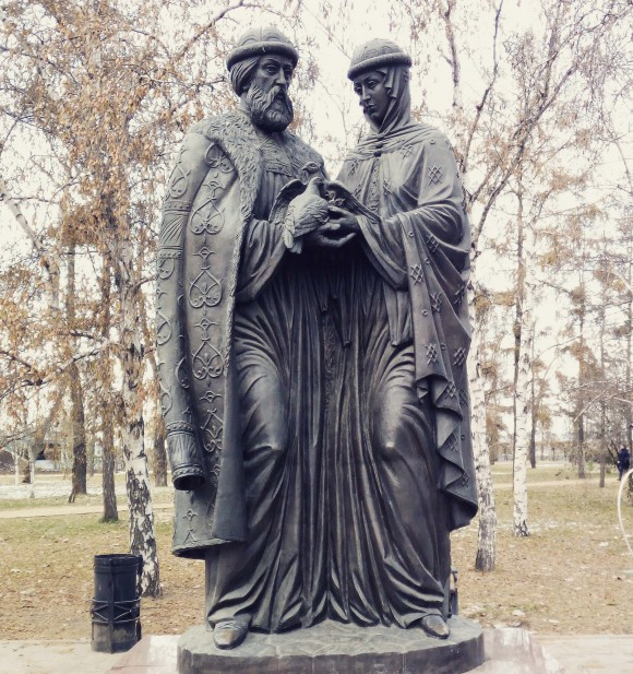 Statue of Peter and Fevronia Murom that represents faith, hope, love and family. (Vlatka Jovanovic)