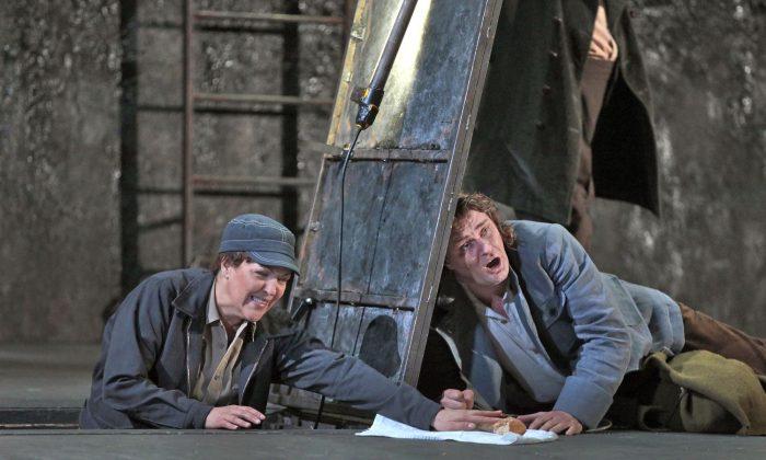 "Adrianne Pieczonka as Leonore and Klaus Florian Vogt as Florestan in Beethoven's ""Fidelio."" (Ken Howard/Metropolitan Opera)"
