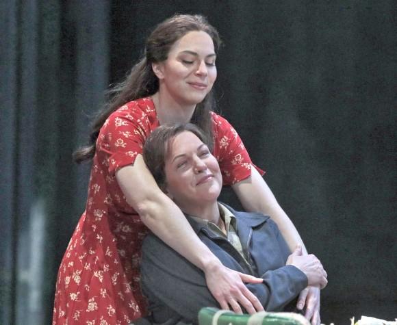 Hanna-Elizabeth Müller as Marzelline and Adrianne Pieczonka as Leonore in Beethoven's Fidelio . (Ken Howard/Metropolitan Opera)