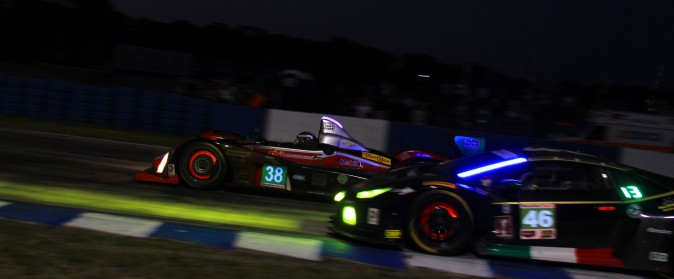 The drivers and crew of the #38 Performance Tech Oreca backed up its Rolex win with a victory at Sebring. (Chris Jasurek/Epoch Times)