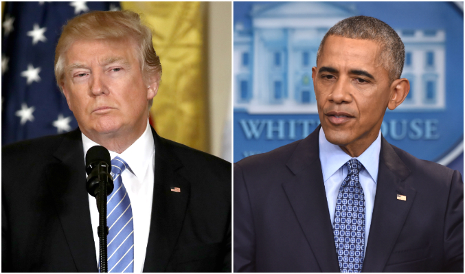 President Donald Trump and former President Barack Obama have both had their run-ins with the press. (Win McNamee/Getty Images; NICHOLAS KAMM/AFP/Getty Images)
