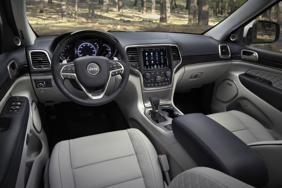 Inside the 2017 Grande Cherokee. (Courtesy of Jeep)
