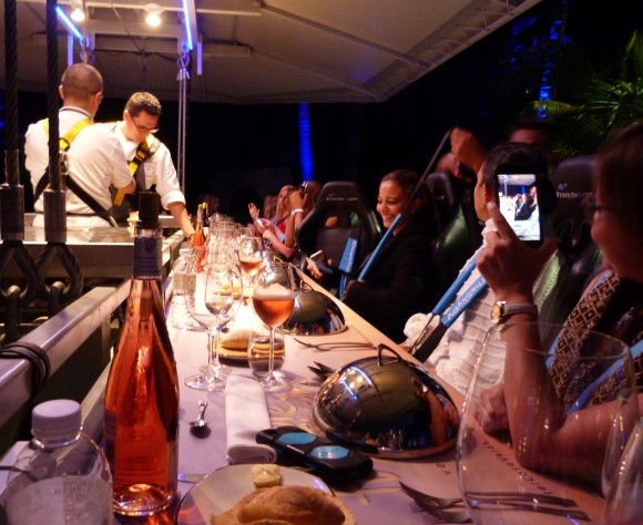 Dinner in the Sky above the five-star luxury resort Casa Velas. (Barbara Angelakis)