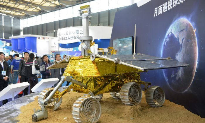 A model of a Chinese lunar rover at the China International Industry Fair in Shanghai on Nov. 5, 2013. (Peter Parks/AFP/Getty Images)