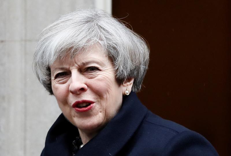 Britain's Prime Minister Theresa May leaves Downing Street in London, Britain on March 22, 2017. (REUTERS/Stefan Wermuth)