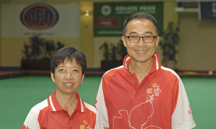 Queenie Lai (left) and Stanley Lai represented Hong Kong in the World Cup Singles Championship in Warilla, Australia from March 12 to 22, 2017. (David Allen)