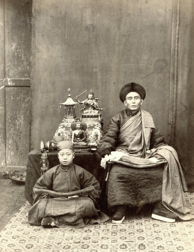 """No. 192 Mongolian Lama,"" circa 1870–1879, by Thomas Child. Albumen silver print. (Courtesy of Stephan Loewentheil Historical Photography Collection)"