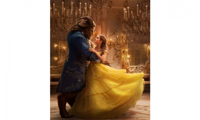 "Dan Stevens as the Beast and Emma Watson as Belle in ""Beauty and the Beast."" (Disney)"