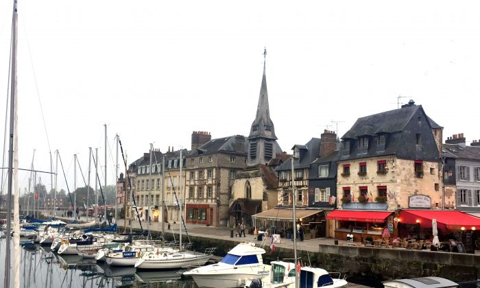 Honfleur's Vieux-Bassin (Old Harbour) is lined with beautifully restored 16th- to 18th-century houses. (Janna Graber)