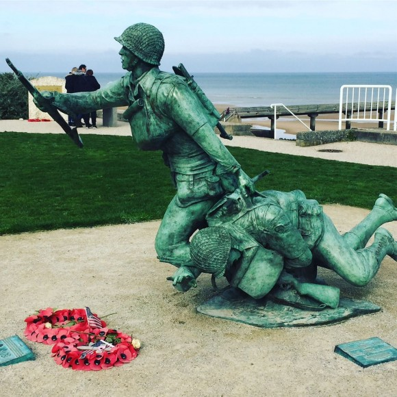 The National Guard Monument at Omaha Beach, Normandy. (Janna Graber)