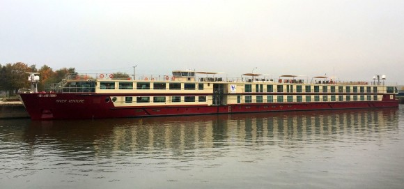 The MS River Venture is a small luxury vessel that can hold 136 passengers. (Janna Graber)