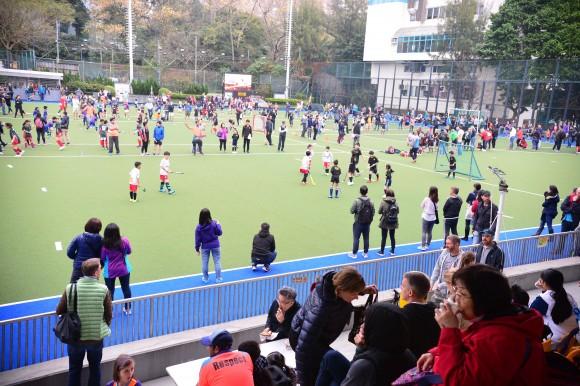 Khalsa mini hockey tournament held at King's Park on March 19, 2017. (Eddie So)
