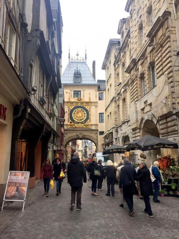 A shopping street in Rouen. (Janna Graber)