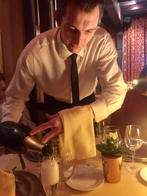 Waiter at La Couronne, the restaurant in Rouen where renowned chef Julia Childs first fell in love with French cooking. (Janna Graber)