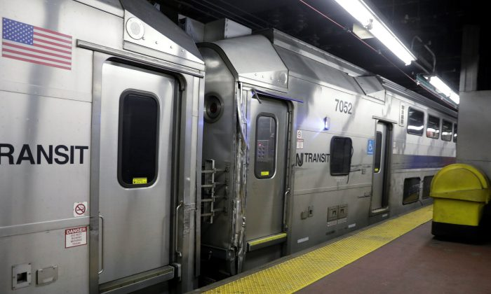 A New Jersey Transit train is pictured damaged at Penn Station in Manhattan. (REUTERS/Lucas Jackson)