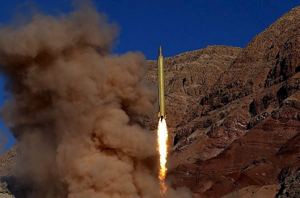 A ballistic missile is launched and tested in an undisclosed location, Iran, in this handout photo released by Farsnews on March 9, 2016. (Reuters/farsnews.com/Handout via Reuters)