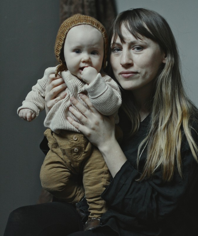 Colleen Barry with her daughter, Eve, 2017.