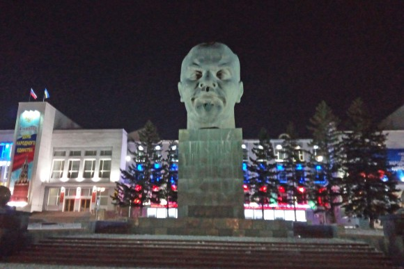 A giant Lenin head, the biggest in the world in Ulan Ude. (Vlatka Jovanovic)