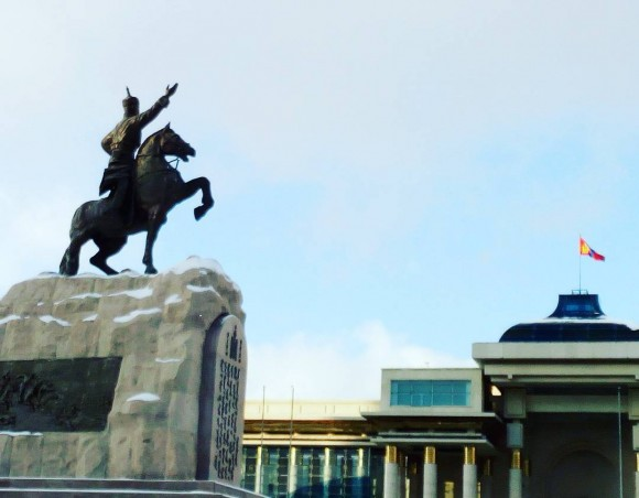Sukhbaatar Square, Ulaanbaatar, Mongolia. (Vlatka Jovanovic)
