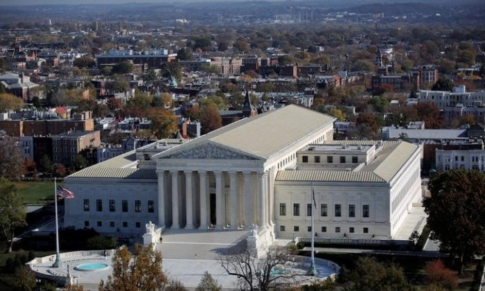 A general view of the U.S. Supreme Court building in Washington on Nov. 15, 2016. (REUTERS/Carlos Barria)