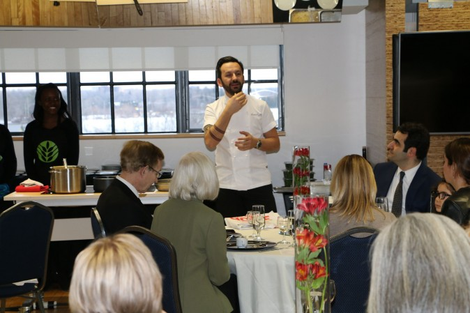 Chef Ismet Saz explains some of the finer points of Turkish cooking. (Courtesy of Turkish Consulate, Toronto)