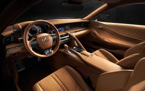 Hallmark Lexus interior of the LC 500. (Courtesy of Lexus)