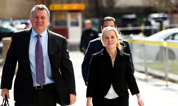 Bridget Anne Kelly, former deputy chief of staff to New Jersey Governor Chris Christie, arrives for her sentencing in the Bridgegate trial at the Federal Courthouse in Newark, N.J., onMarch 29, 2017. (REUTERS/Lucas Jackson)