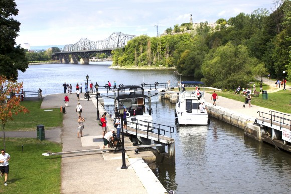 Locks on the Rideau Canal. (Ottawa Tourism)