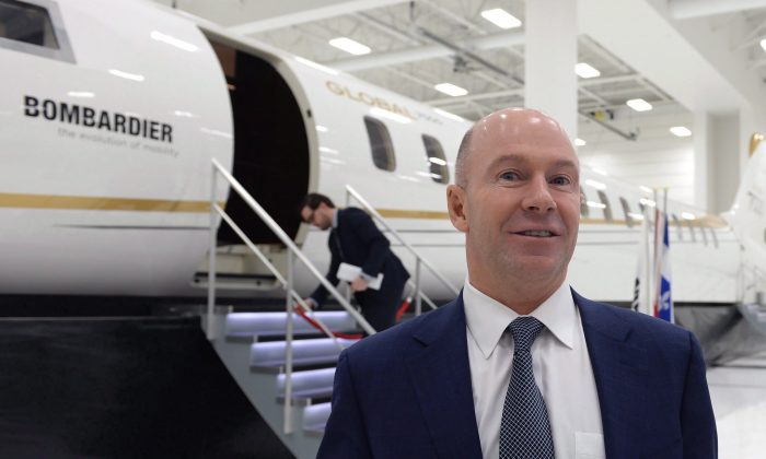 Bombardier CEO Alain Bellemare in Montreal on Feb. 7, 2017. His total compensation rose almost 50 percent in the past year. (The Canadian Press/Paul Chiasson)