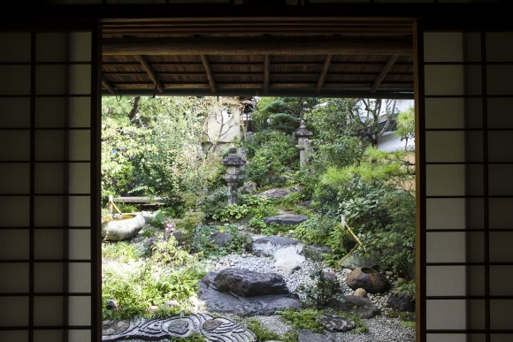 The garden at Ikkyu restaurant. (Annie Wu/Epoch Times)