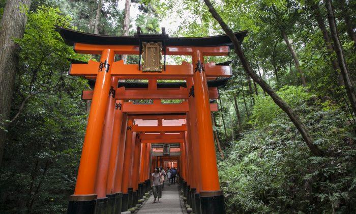 The gates at Fushimi Inari shrine in Kyoto, Japan. (Annie Wu/Epoch Times)