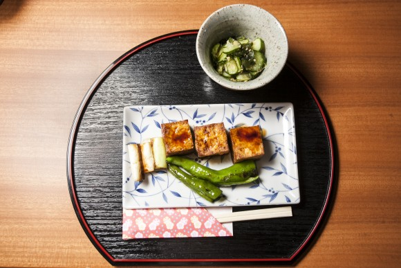 A Kyoto-style home-cooked meal, at the WAK Japan office in Kyoto. (Annie Wu/Epoch Times)