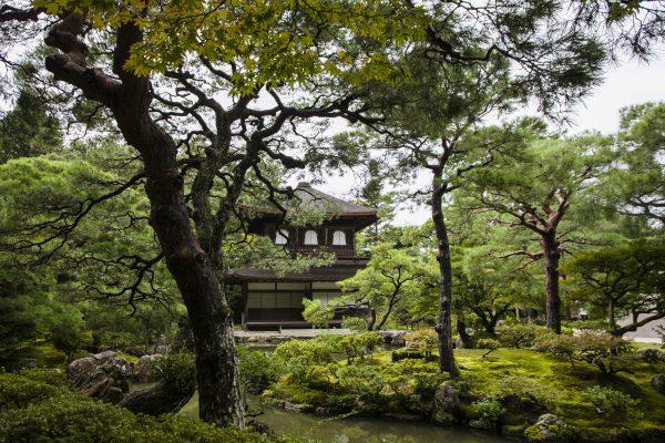 The elegant landscape at Ginkakuji Temple. (Annie Wu/Epoch Times)