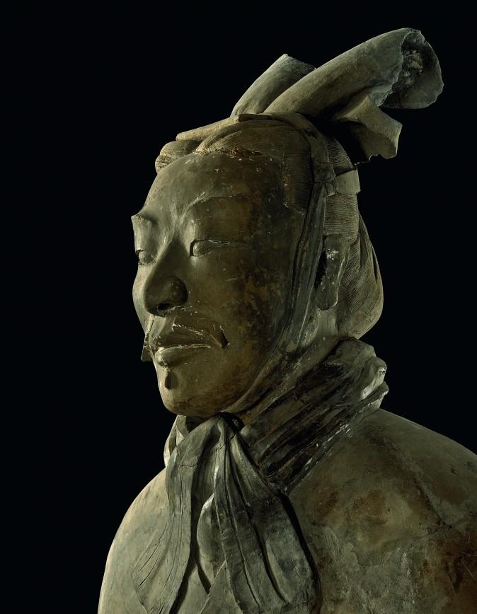 Unarmored General (detail),Qin Dynasty (221–206 B.C.). Earthenware, Emperor Qinshihuang's Mausoleum Site Museum. (The Metropolitan Museum of Art)