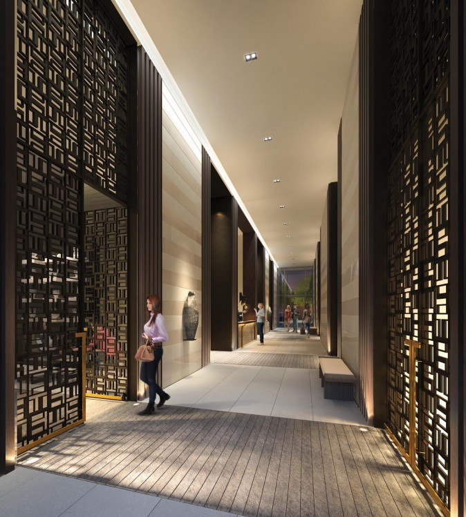 Rendering of the Teahouse Condos lobby. (Courtesy of Lanterra Developments)