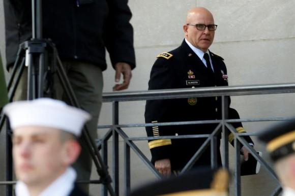 White House National security adviser Lt. Gen. H.R. McMaster arrives at the Pentagon in Washington, U.S., March 16, 2017. (REUTERS/Yuri Gripas)