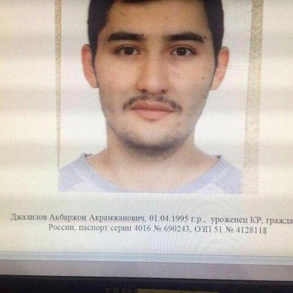 Suspect Akbarzhon Jalilov. (5th Channel Russia/via Reuters)