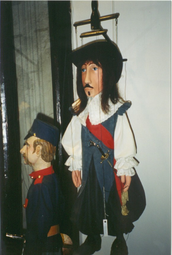 Hand-carved Czech puppets. (Courtesy Susan Hallet)