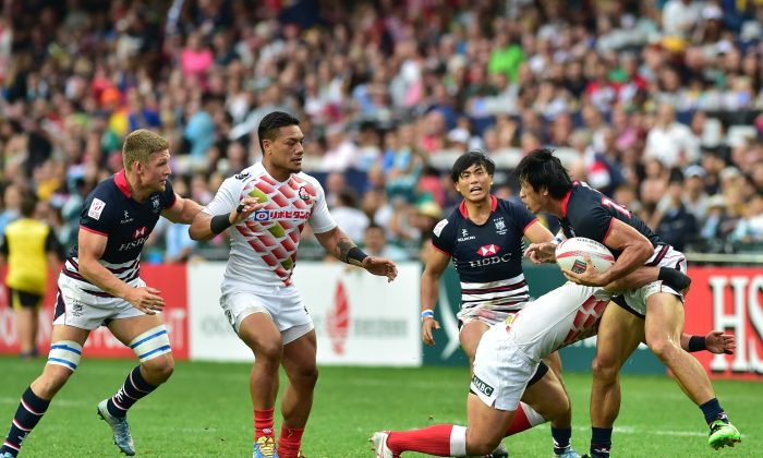 Hong Kong put up a brave performance against Japan in the final of the Rugby Sevens Qualifier 2016, but lost the final 14-24. They will be hoping to go one better this year, but this will be the toughest and most competitive tournament over the Sevens weekend on April 7, 8 and 9, 2017. (Bill Cox/Epoch Ties)