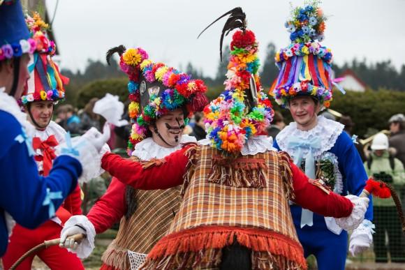"Czech ""Masopust,"" or carnival.  (Lukes Zentel, courtesy Czech Tourism)"