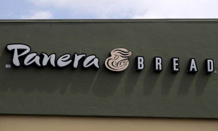 A Panera restaurant logo is pictured on a building in North Miami, Fla., onMarch 19, 2016. (REUTERS/Carlo Allegri)