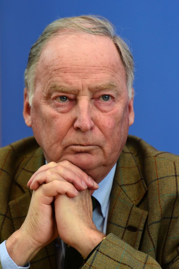 Right-wing Alternative for Germany (AfD) deputy chairman Alexander Gauland attends a press conference in Berlin, on March 14, 2016. (JOHN MACDOUGALL/AFP/Getty Images)