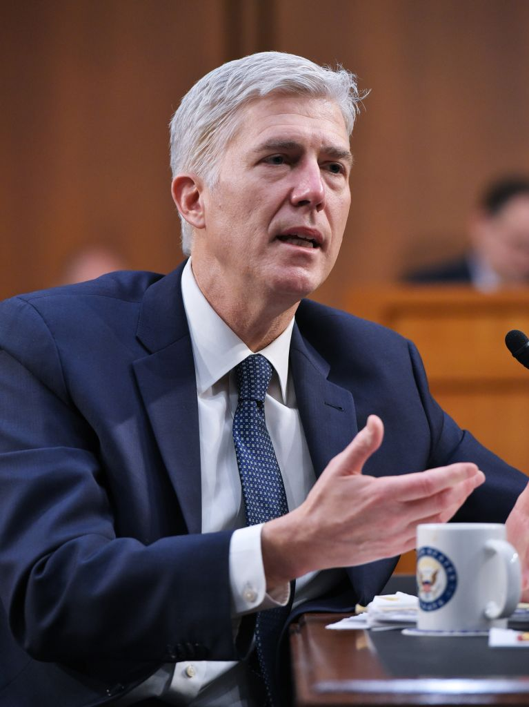 Neil Gorsuch during a hearing in the Hart Senate Office Building in Washington on March 22, 2017. (MANDEL NGAN/AFP/Getty Images)