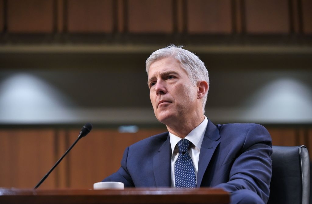 Neil Gorsuch testifies before the Senate Judiciary Committee on his nomination to be an associate justice of the US Supreme Court during a hearing in the Hart Senate Office Building in Washington on March 22, 2017. (MANDEL NGAN/AFP/Getty Images)