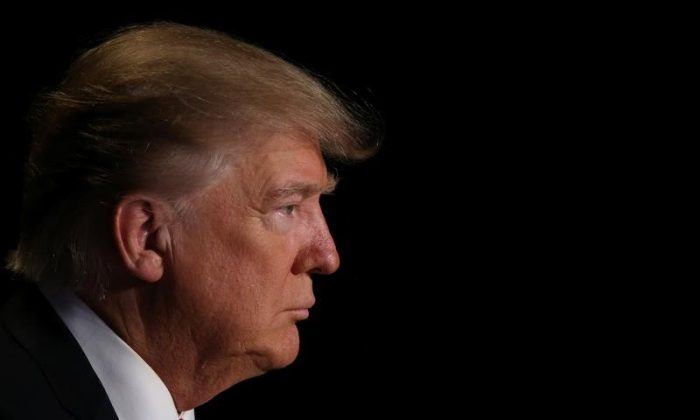 President Trump attends the National Prayer Breakfast. (REUTERS/Carlos Barria)