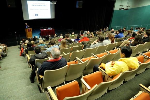 David Kilgour speaks at the screening of