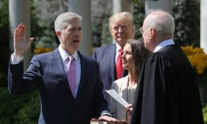Trump Appointee Gorsuch Energetic in First US High Court Arguments