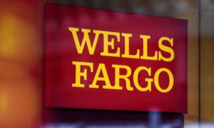 A Wells Fargo logo is seen in New York City on Jan. 10, 2017. (REUTERS/Stephanie Keith)