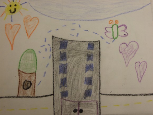 Drawing by a child in the Housing Families program. (Housing Families, Inc.)