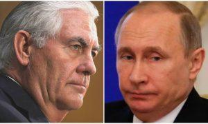 Kremlin: Putin Won't Meet Tillerson After Syria Missile Strike